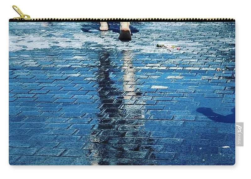 Man Carry-all Pouch featuring the photograph Walking on the water by Nerea Berdonces Albareda
