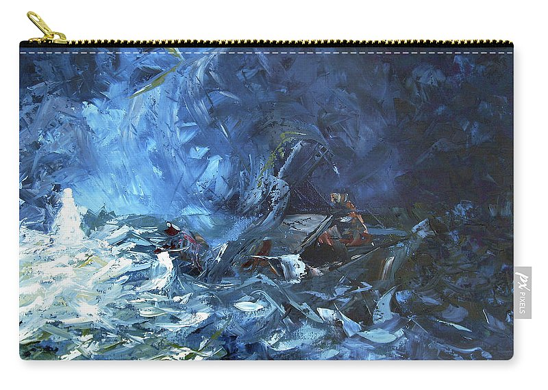 Abstract Carry-all Pouch featuring the painting Walking On Water by Lewis Bowman
