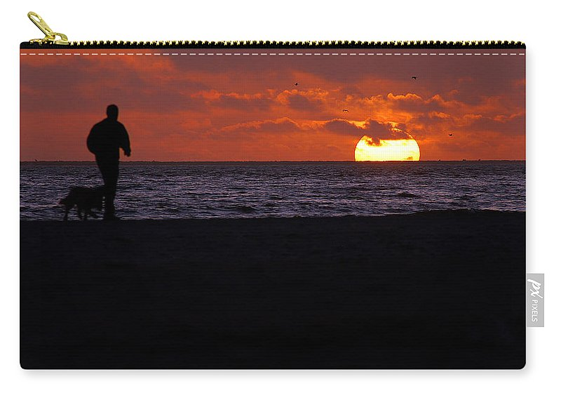 Clay Carry-all Pouch featuring the photograph Walking The Dog by Clayton Bruster