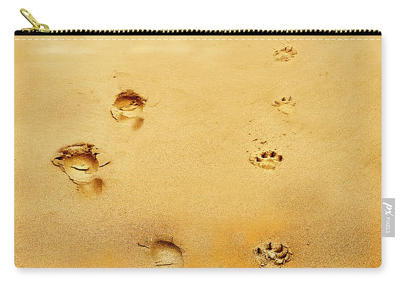 Walking The Dog Carry-all Pouch featuring the photograph Walking The Dog by Mal Bray