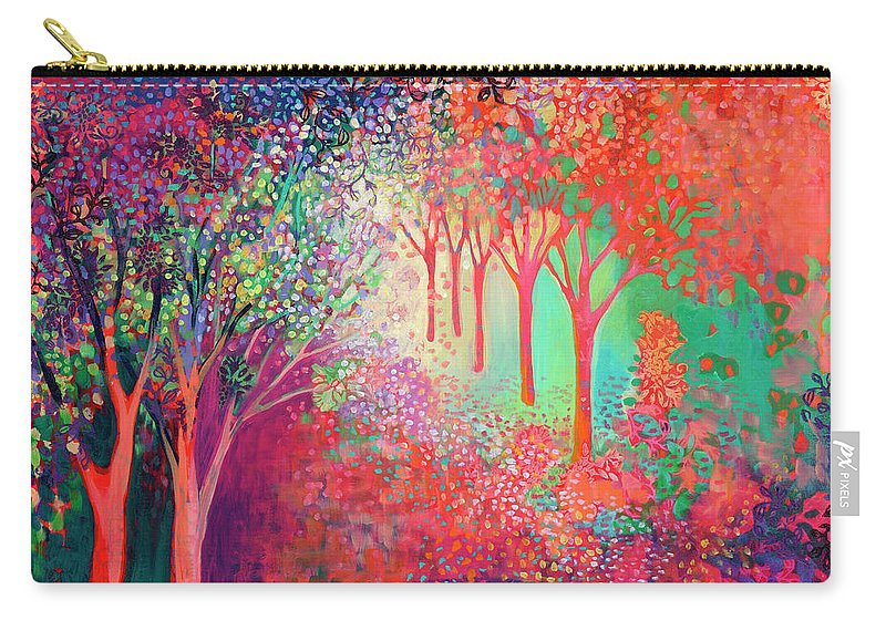 Tree Carry-all Pouch featuring the painting Walking Toward The Light by Jennifer Lommers
