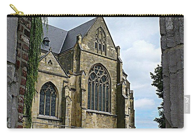 Church Carry-all Pouch featuring the photograph Walkway To Thorn Cathedral by Carol Groenen