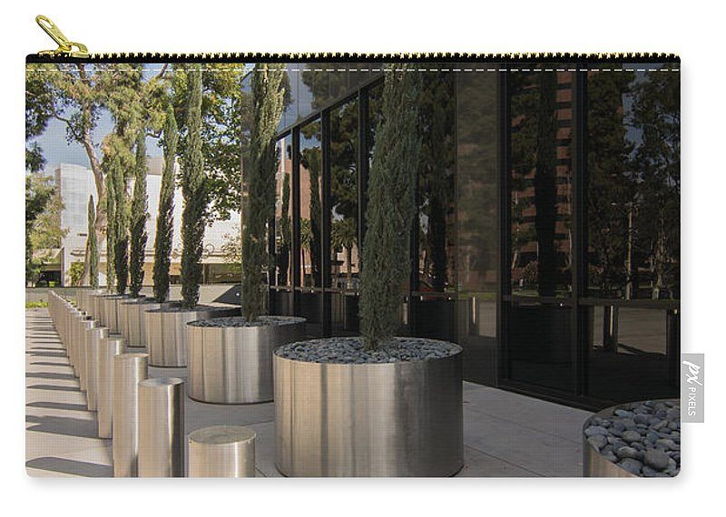 Walkway Carry-all Pouch featuring the photograph Walkway With Reflection by Robert VanDerWal