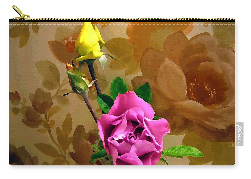 Roses Carry-all Pouch featuring the photograph Wall Flowers by Will Borden