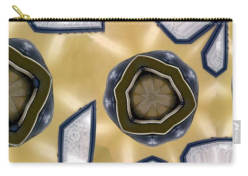 Abstract Carry-all Pouch featuring the digital art Wall Piece by Ron Bissett