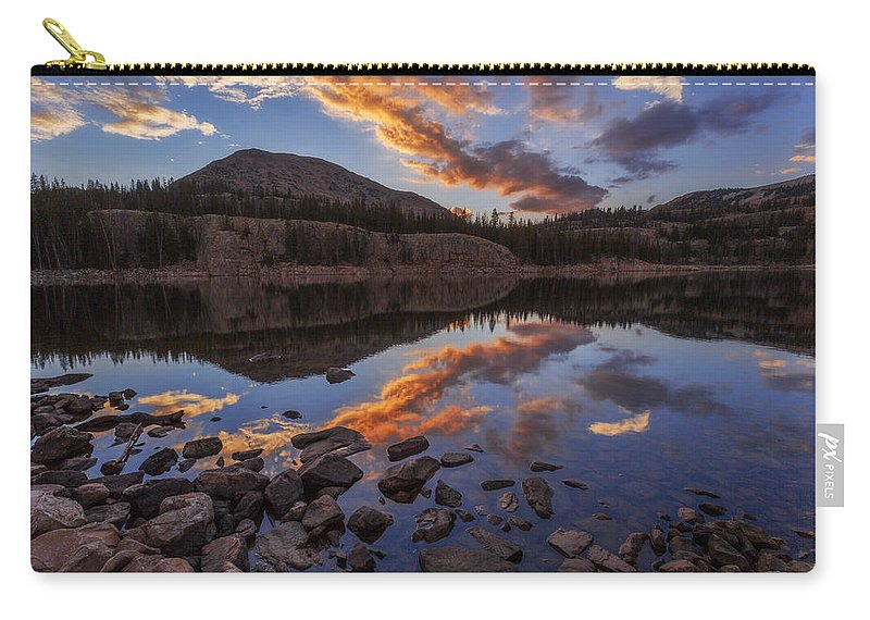 Wall Reflection Carry-all Pouch featuring the photograph Wall Reflection by Chad Dutson