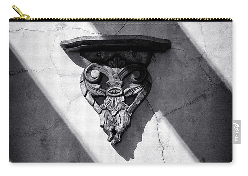 Architecture Carry-all Pouch featuring the photograph Wall Sconce by Scott Wyatt