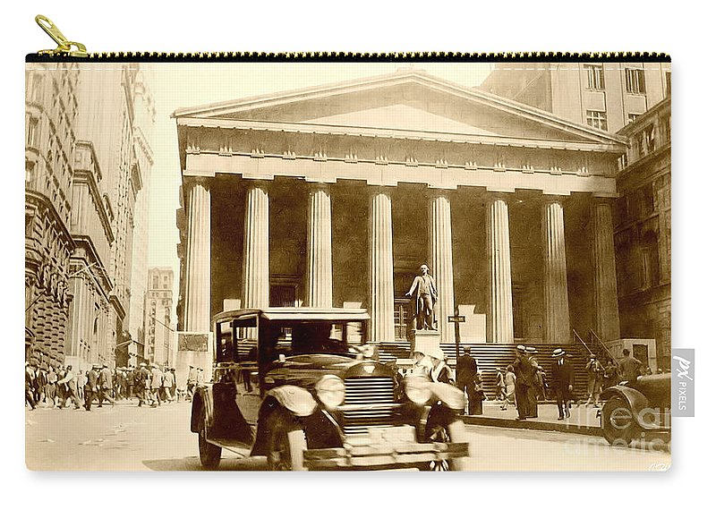 Old Nyc Photos Carry-all Pouch featuring the photograph Wall Street 1926 by Steve Sachs