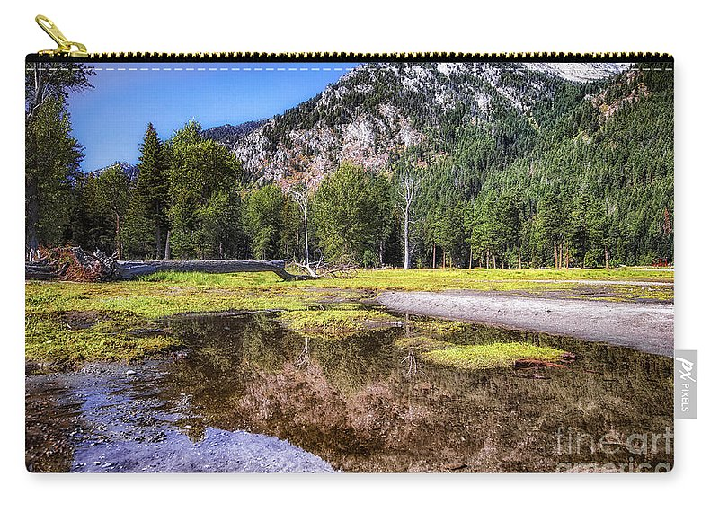 Carry-all Pouch featuring the photograph Wallowa Lake Reflections by Marcia Darby