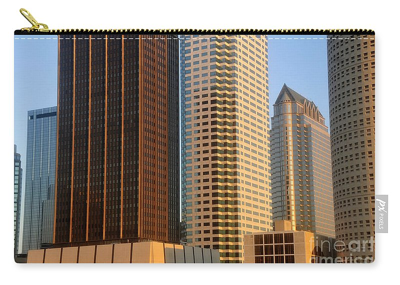 Commerce Carry-all Pouch featuring the photograph Walls Of Commerce by David Lee Thompson