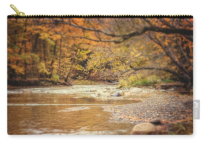 Stream Landscape Carry-all Pouch featuring the photograph Walnut Creek In Autumn by Lisa Russo