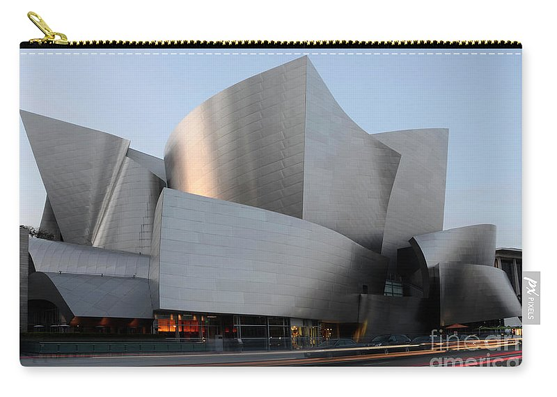 Disney Carry-all Pouch featuring the photograph Walt Disney Concert Hall 17 by Bob Christopher