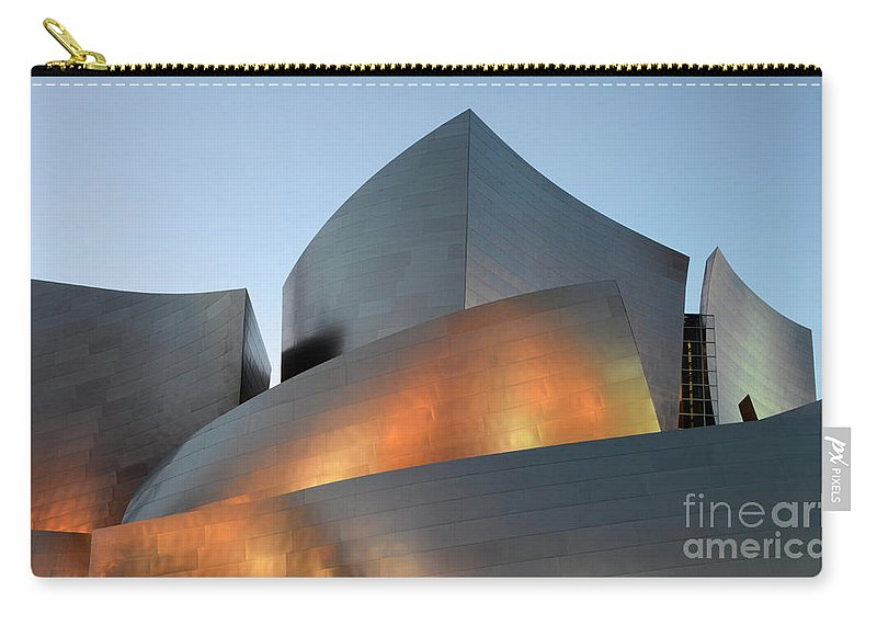 Disney Carry-all Pouch featuring the photograph Walt Disney Concert Hall 19 by Bob Christopher