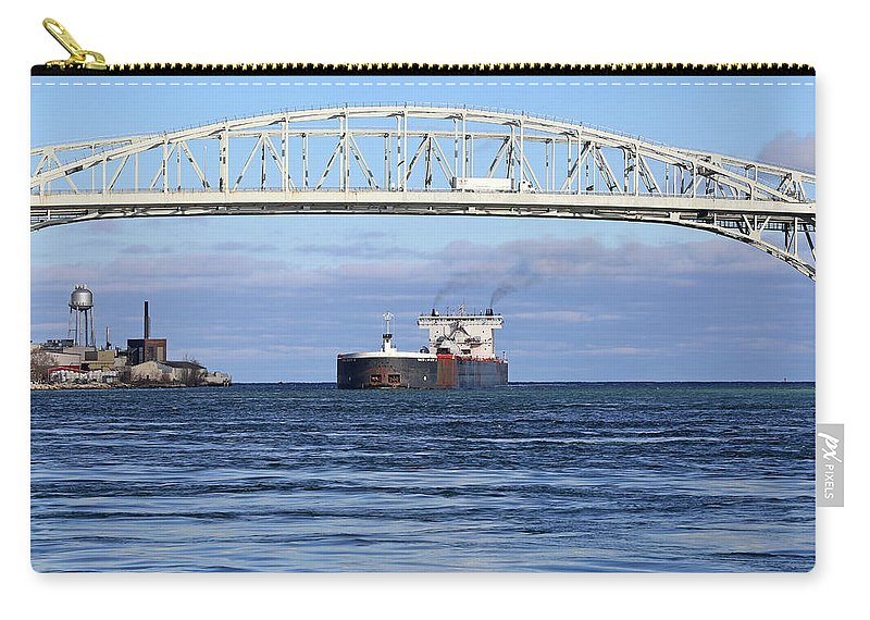 Walter J. Mccarthy Jr. Carry-all Pouch featuring the photograph Walter J. Mccarthy And Blue Water Bridge 112917 by Mary Bedy