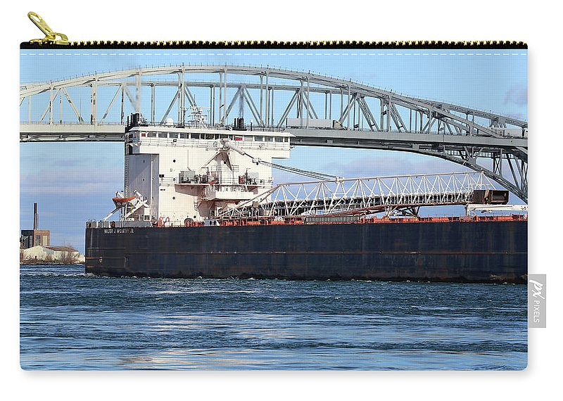 Walter J. Mccarthy Jr. Carry-all Pouch featuring the photograph Walter J. Mccarthy Jr. And Blue Water Bridge 2 112917 by Mary Bedy