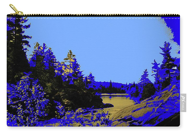 Northern Carry-all Pouch featuring the photograph Wanapitae River Morning by Ian MacDonald