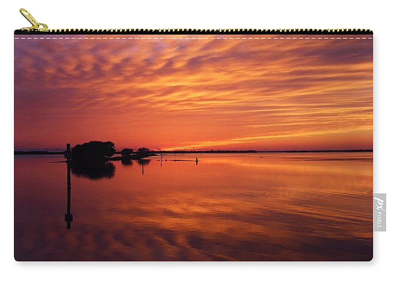Sunset Carry-all Pouch featuring the photograph Waning West by Michiale Schneider
