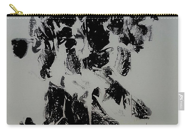 Art Carry-all Pouch featuring the mixed media War 4 by Nour Refaat