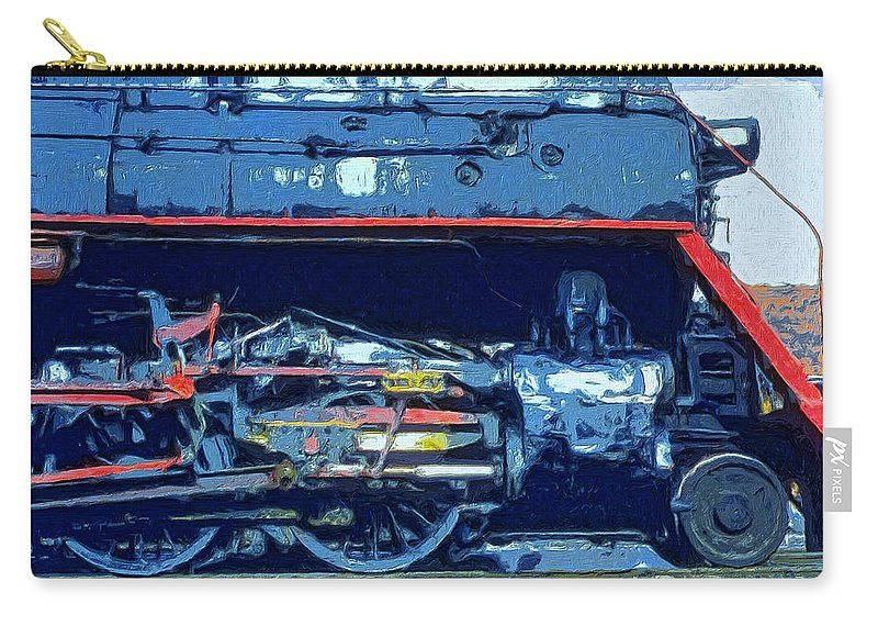 Locomotive Carry-all Pouch featuring the painting War Horse by Dominic Piperata