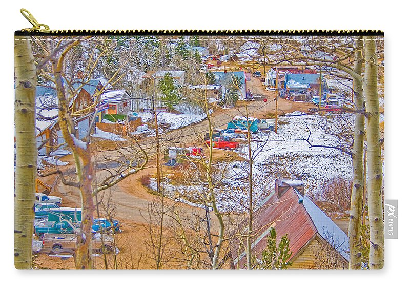 Ward Carry-all Pouch featuring the photograph Ward Boulder County Colorado by James BO Insogna