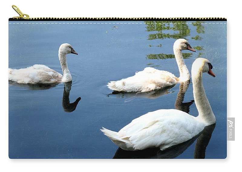 Swans Carry-all Pouch featuring the photograph Ward by Ian MacDonald