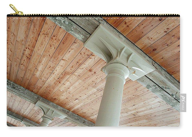 Helen Northcott Carry-all Pouch featuring the photograph Warehouse Columns by Helen Northcott