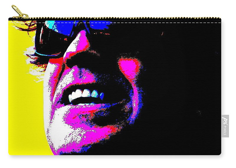 Music Carry-all Pouch featuring the photograph Warhol Robbie by Jesse Ciazza
