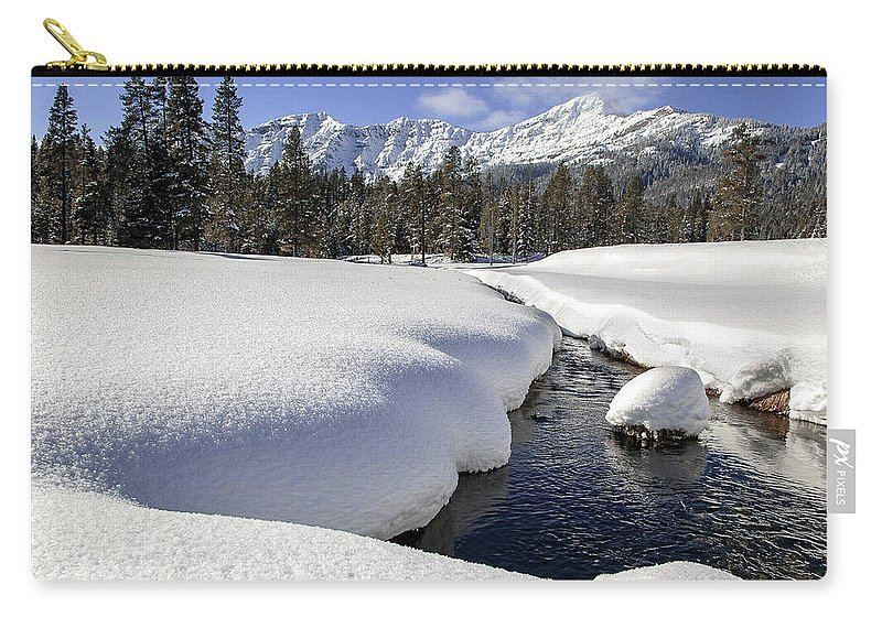 Mountains Carry-all Pouch featuring the photograph Warm Creek by Jack Bell