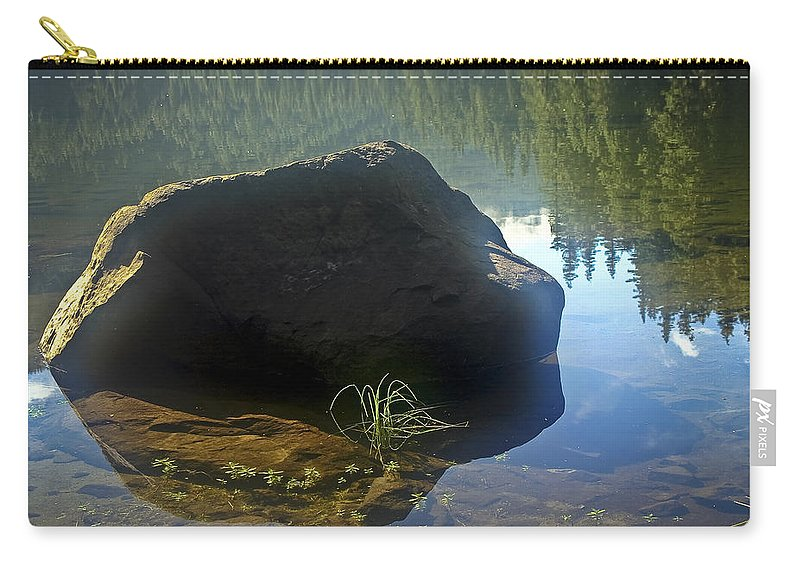 Pamelia Lake Carry-all Pouch featuring the photograph Warming Sun by Albert Seger