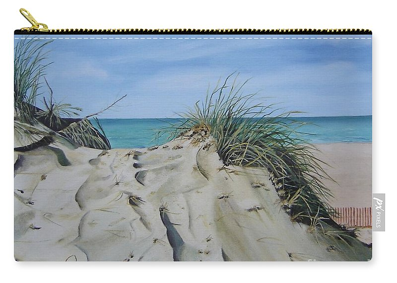 Lake Carry-all Pouch featuring the painting Warren Dunes by Mary Rogers