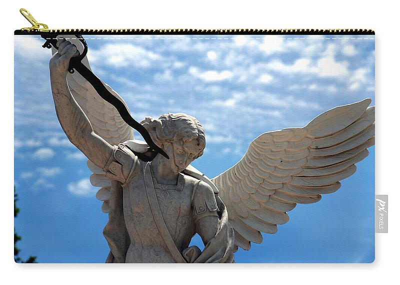 Warrior Carry-all Pouch featuring the photograph Warrior Angel by Susanne Van Hulst