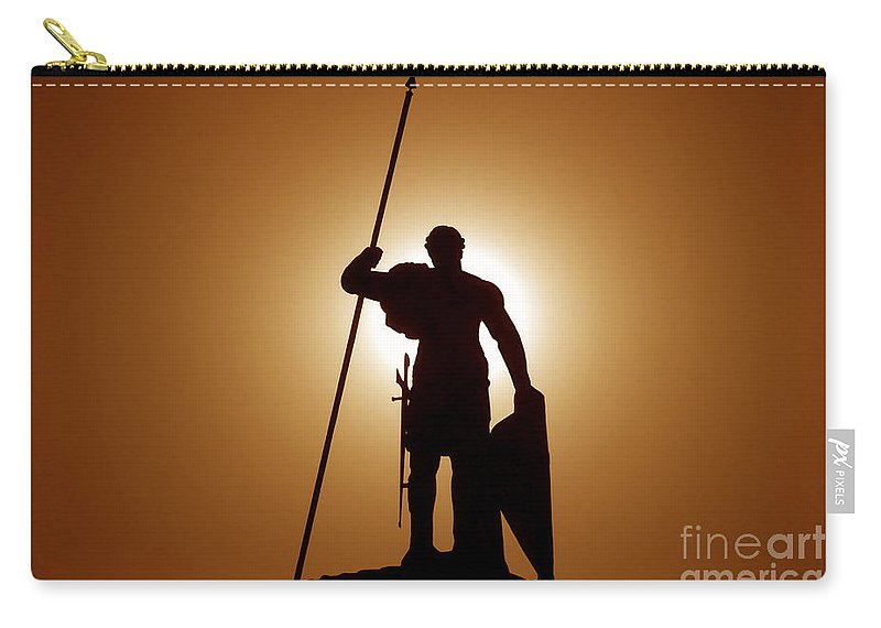 Warrior Carry-all Pouch featuring the photograph Warrior by David Lee Thompson