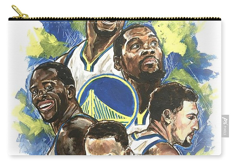 Golden State Warriors Carry-all Pouch featuring the painting Warriors by Joel Tesch