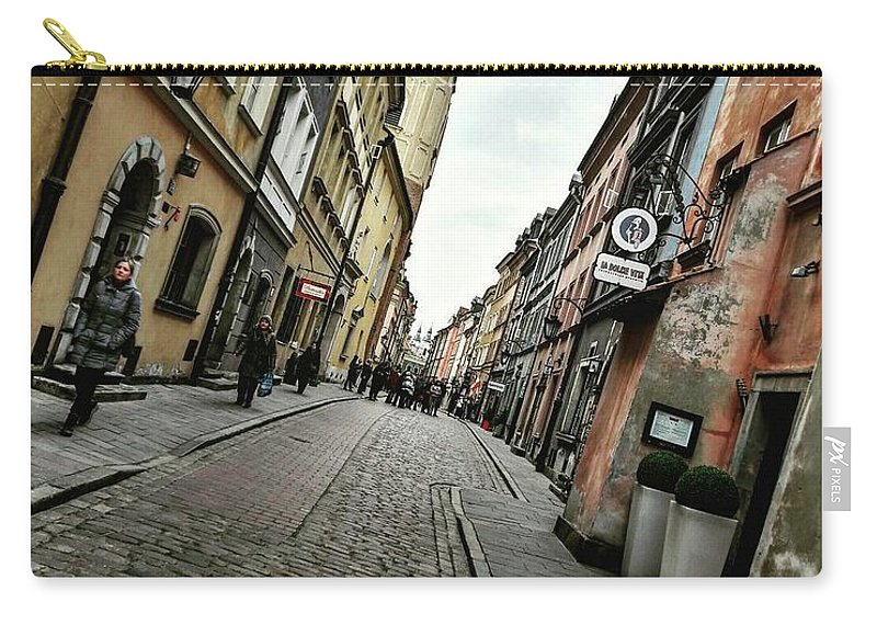Carry-all Pouch featuring the photograph Warsaw, The Old Town by Christian Smochko