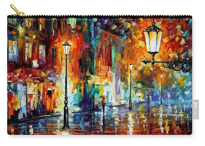 Afremov Carry-all Pouch featuring the painting Washed City by Leonid Afremov