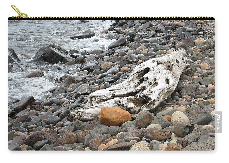 Driftwood Carry-all Pouch featuring the photograph Washed Up by Kelly Mezzapelle