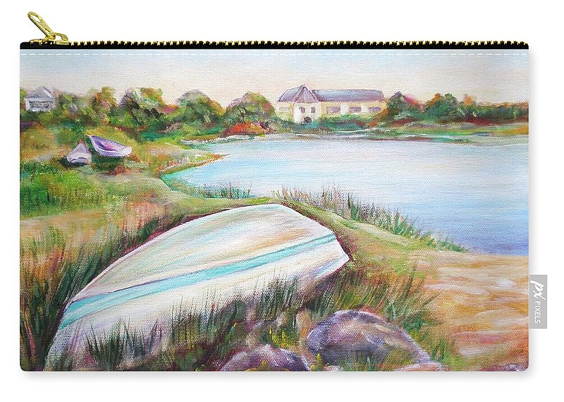 Skiff Carry-all Pouch featuring the painting Washed Up by Patricia Piffath