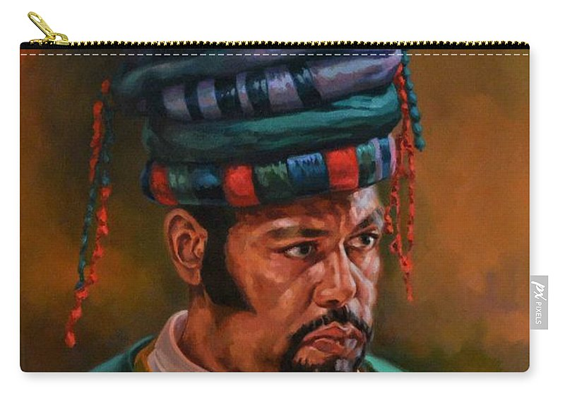 Oriental Carry-all Pouch featuring the painting Bashbozuk by Ahmed Bayomi