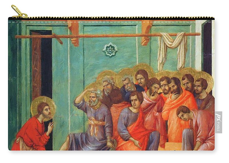 Washing Carry-all Pouch featuring the painting Washing Of Feet 1311 by Duccio