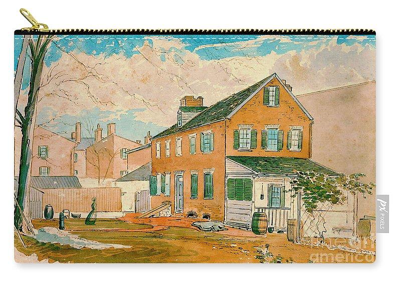Washington D.c. Square 1874 Carry-all Pouch featuring the photograph Washington D.c. Square 1874 by Padre Art