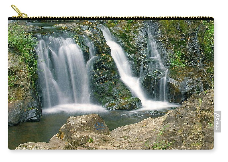Waterfall Carry-all Pouch featuring the photograph Washington Falls 3 by Marty Koch