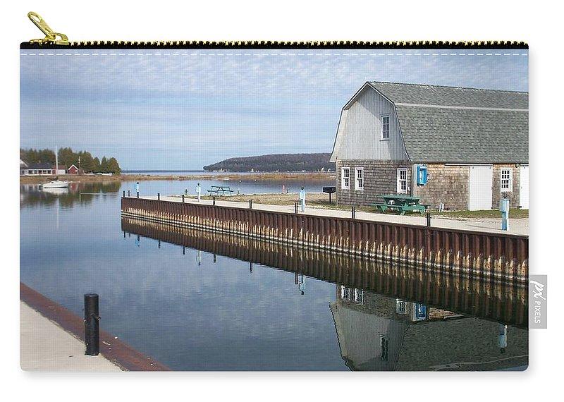 Washington Island Carry-all Pouch featuring the photograph Washington Island Harbor 2 by Anita Burgermeister