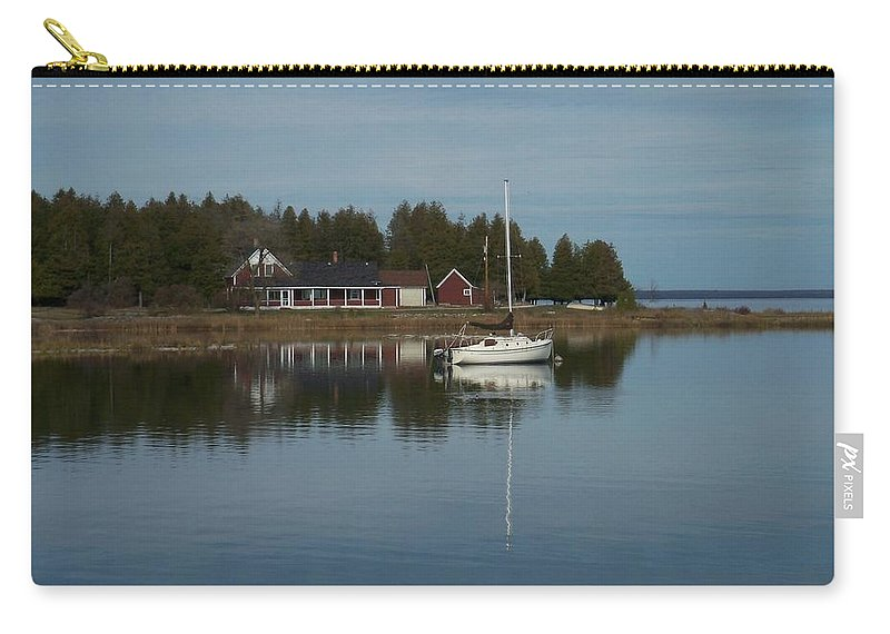 Washington Island Carry-all Pouch featuring the photograph Washington Island Harbor 3 by Anita Burgermeister