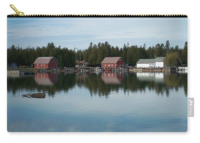 Washington Island Carry-all Pouch featuring the photograph Washington Island Harbor 5 by Anita Burgermeister