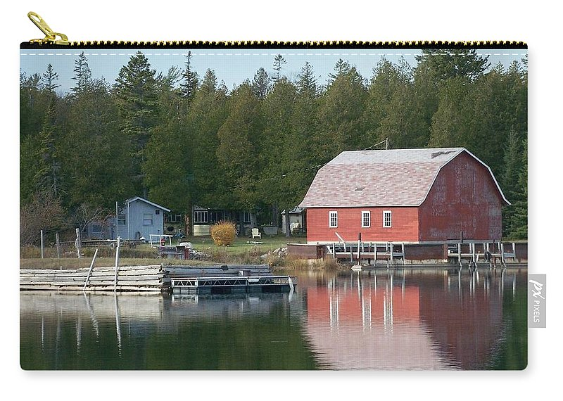 Washington Island Carry-all Pouch featuring the photograph Washington Island Harbor 6 by Anita Burgermeister