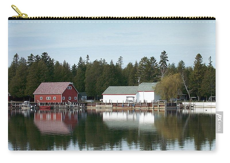 Washington Island Carry-all Pouch featuring the photograph Washington Island Harbor 7 by Anita Burgermeister