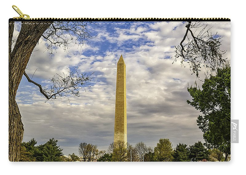 Washington Monument Carry-all Pouch featuring the photograph Washington Monument From The Mall by Nick Zelinsky