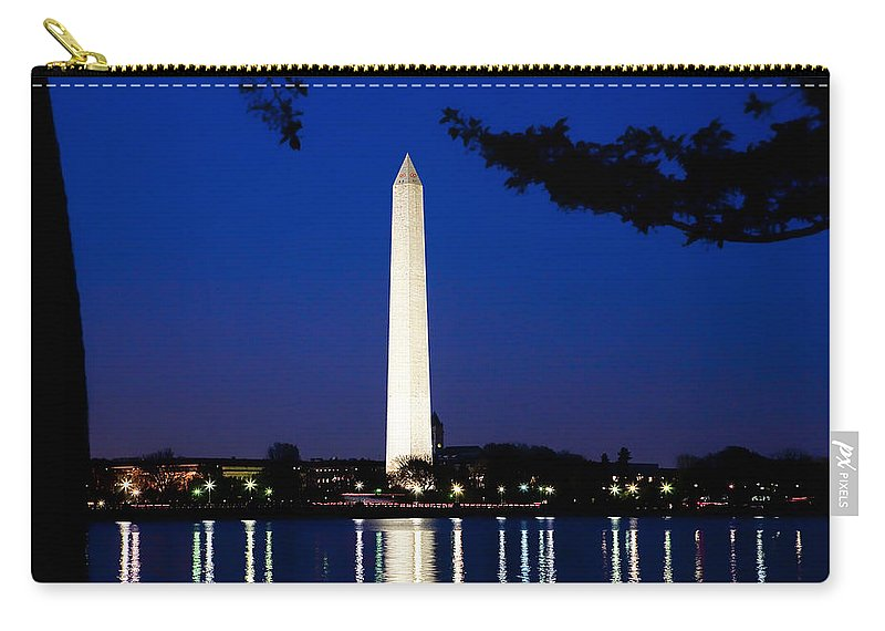 Landscape Carry-all Pouch featuring the photograph Washington Monument by John K Sampson