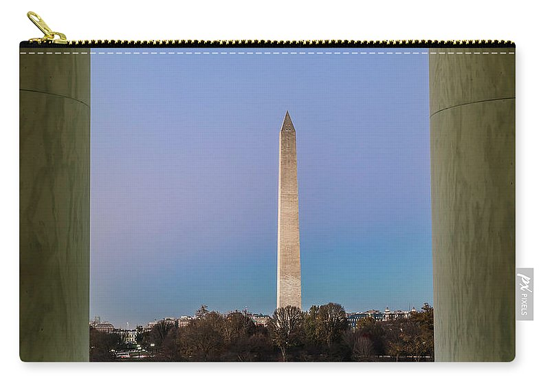 Washington Monument Carry-all Pouch featuring the photograph Washington Monument by Larry Marshall