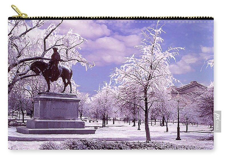 Landscape Carry-all Pouch featuring the photograph Washington Square Park by Steve Karol